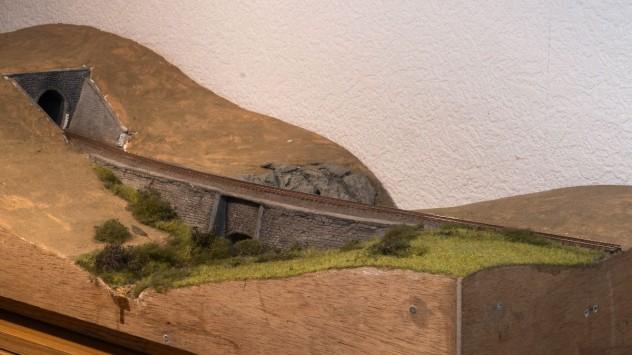 Diorama 90x34x20cm Spur N
