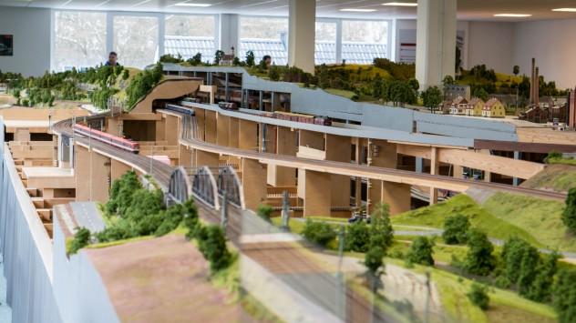 150m² umfasst die Modellbahnanlage des LOK LANDs